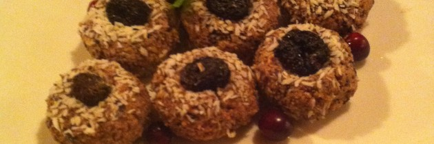 Coconut Date Macaroons with Berries