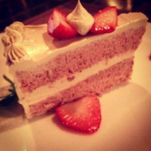 Raw Strawberry swirled cashew cheesecake